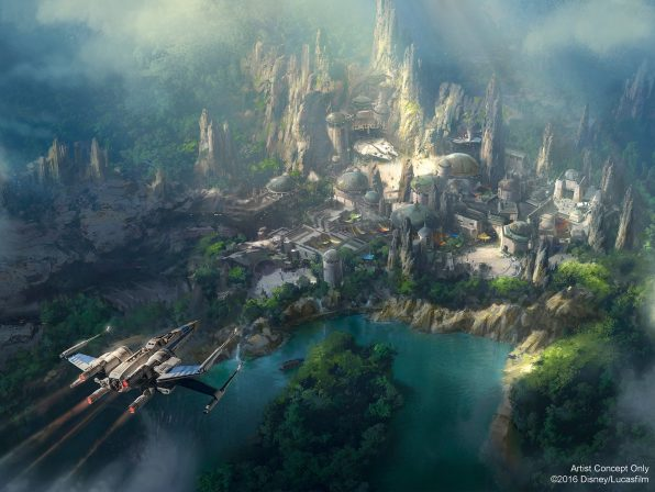 Get an upclose look at Disney Resorts upcoming Star Wars Land