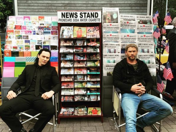 Why are Thor and Loki wearing street clothes in Thor: Ragnarok?