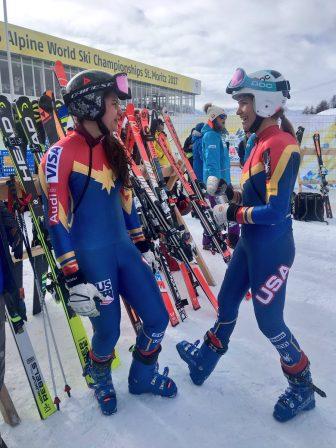 US Women's Ski Team are Captain Marvel fans!