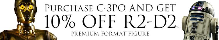 Buy C-3PO get 10 percent off R2