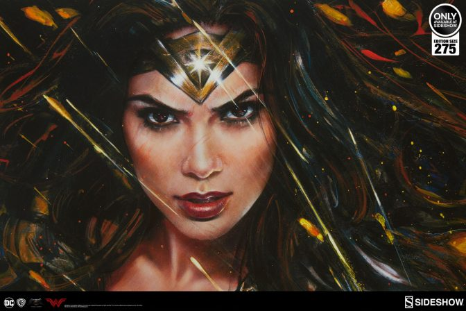 Justice Begins with the Wonder Woman: Diana of Themyscira Art Print by Olivia De Berardinis