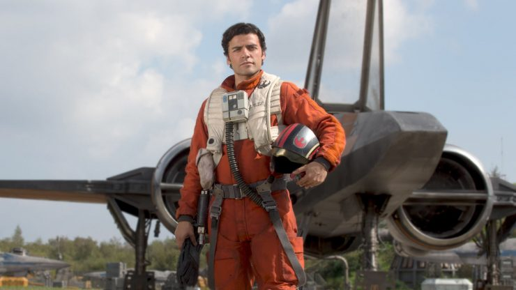 Poe Dameron Feels the Force on the Set of the Last Jedi