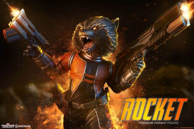 Blammo! We've Got New Production Photos of the Rocket Raccoon Premium Format Figure