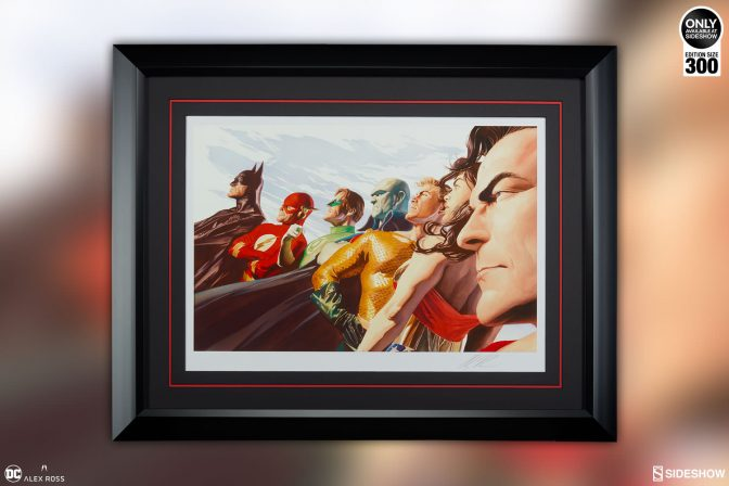 Alex Ross Unites the League for the Liberty and Justice: JLA Fine Art Lithograph Print