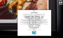 Liberty and Justice: JLA Premium Art Lithograph