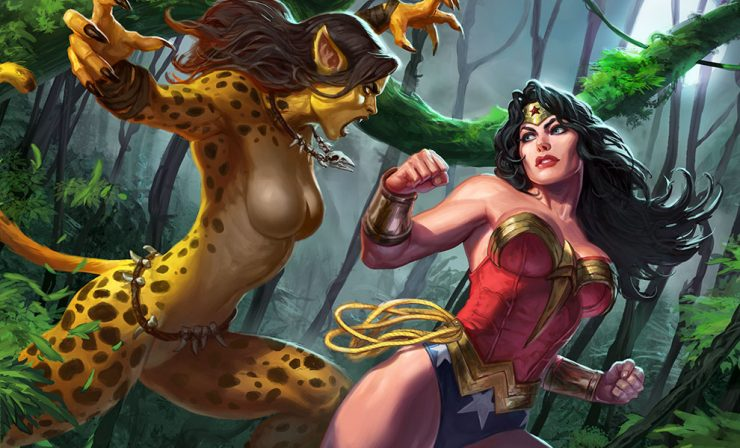 Wonder Woman vs Cheetah by Alex Pascenko