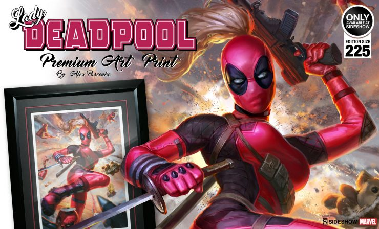 Lady Deadpool Premium Art Print