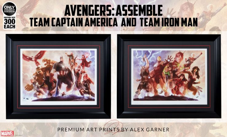 Avengers: Team Captain America & Team Iron Man Art Print Announcement