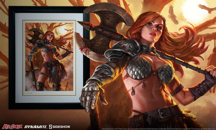 Red Sonja Queen of Scavengers Premium Art Print