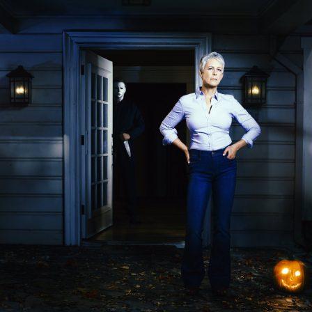 Jamie Lee Curtis in Halloween Promotional Image
