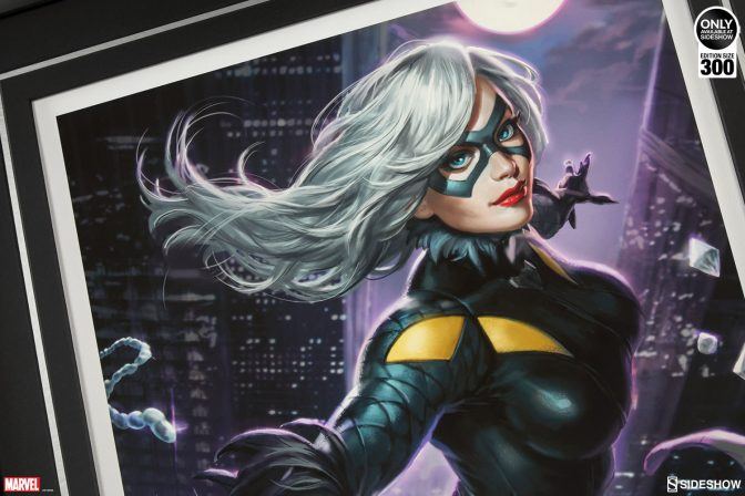 Sink Your Claws into the Black Cat Premium Art Print by Alex Pascenko!