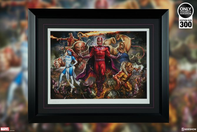 Subdue the Sentinels with the Magneto & The Brotherhood of Mutants Premium Art Print