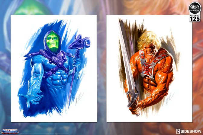 Alex Ross has the Power of Grayskull in the He-Man Vs. Skeletor Fine Art Lithograph Set