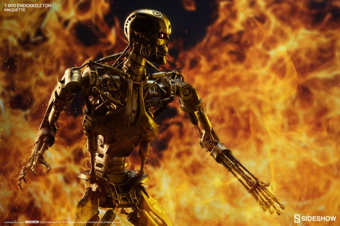 T-800 Maquette by Sideshow with Flame Effect