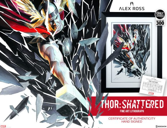 Alex Ross Thor: Shattered Fine Art Lithograph