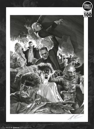 Alex Ross Universal Monsters Fine Art Lithograph Set