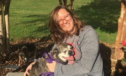 Amanda visited shelter dogs for a day during Spooktacular 2017