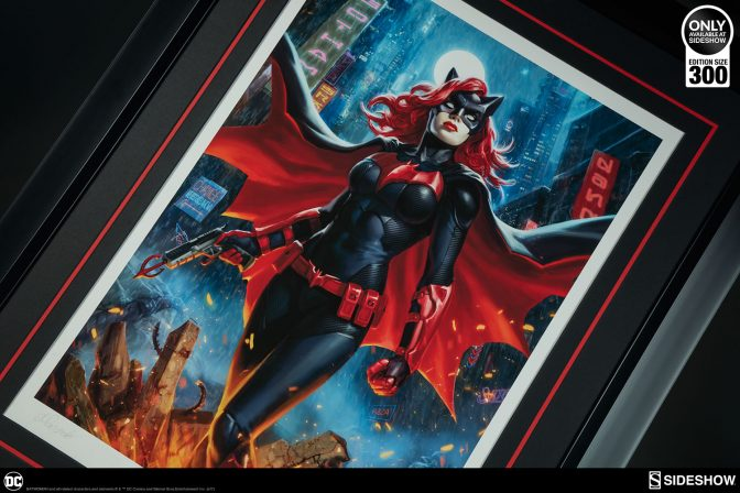 Criminals Beware The Batwoman Premium Art Print!