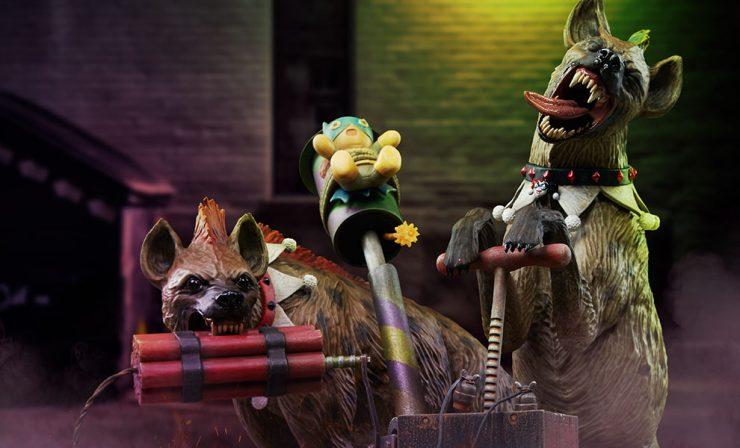 Bud and Lou Hyenas Maquette by Tweeterhead
