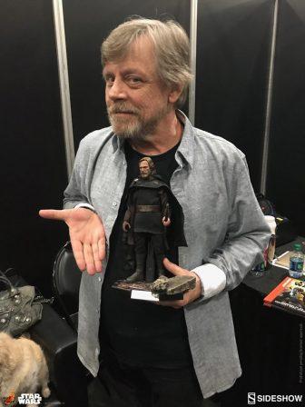 Mark Hamill with Luke Skywalker Sixth Scale Figure