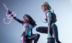 Spider-Gwen and Silk Spider-Verse Statues