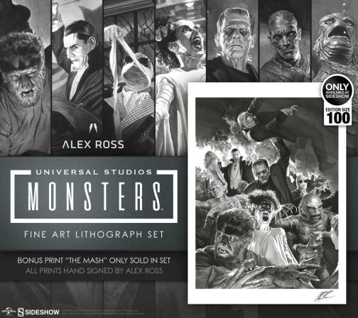 Sideshow and Alex Ross Art Reveal Universal Monsters Collection!