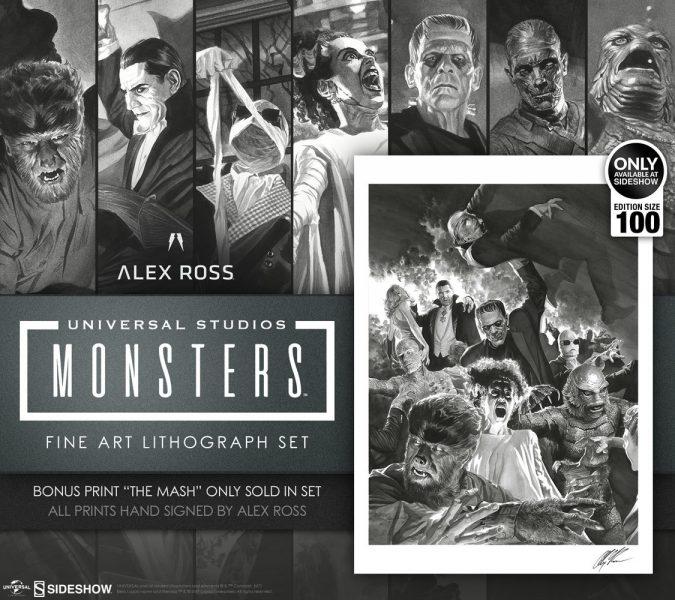 Alex Ross Universal Monsters Lithograph Set