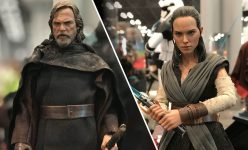 Rey and Luke Sixth Scale Figures from The Last Jedi