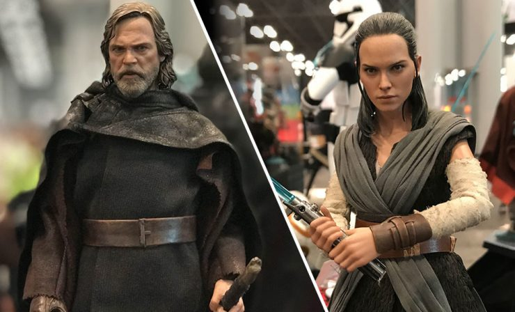 Get Your First Look at The Last Jedi Luke and Rey from Hot Toys at NYCC 2017