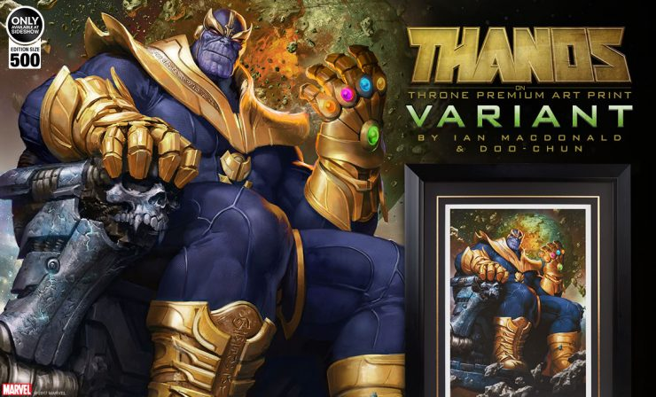 Thanos on Throne Variant Premium Art Print Announcement