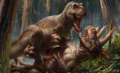 Behind the Scenes of the T-Rex vs Triceratops Premium Art Print