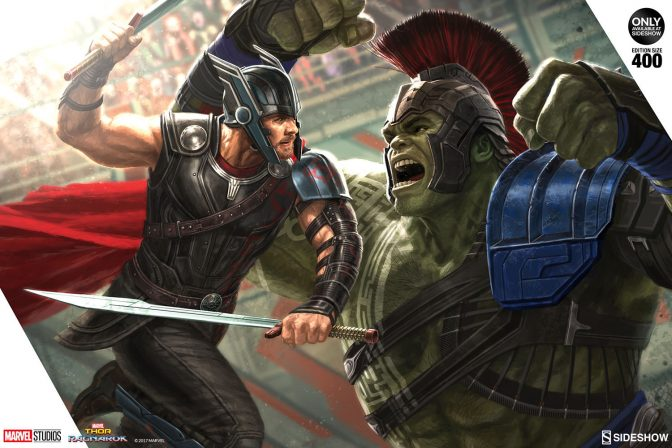It's Main Event Time with the Thor: Ragnarok Fine Art Print by Andy Park