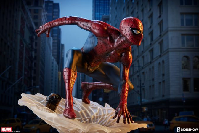 The Spider-Man Statue Spins a Web Out of the Spider-Verse!