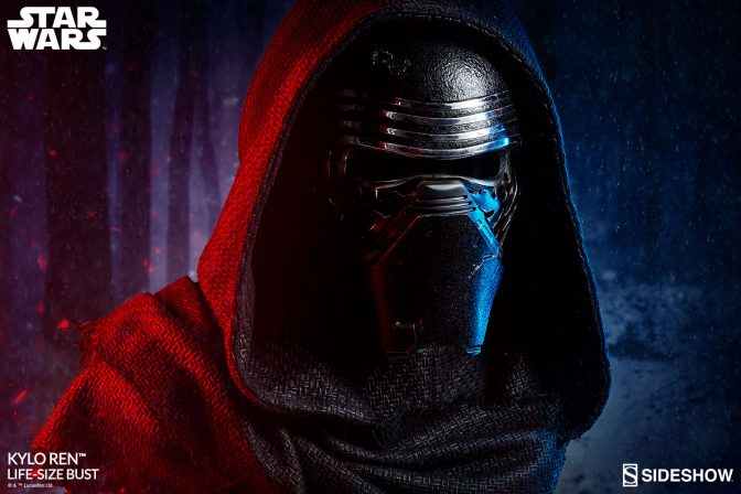 Display the Dark Side in Your Collection with the Kylo Ren Life-Size Bust
