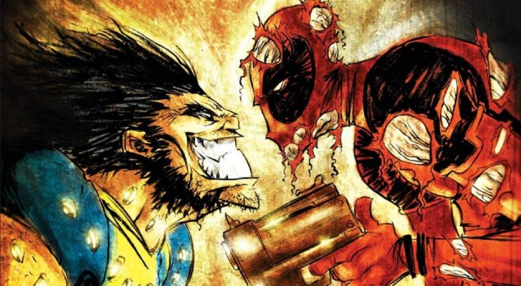 Wolverine Fights Deadpool