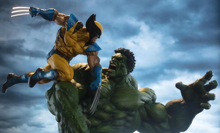 Wolverine Fights The Hulk