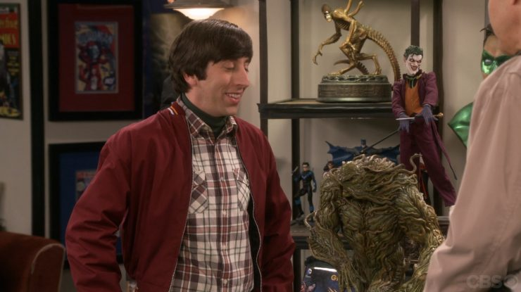 Sideshow Swamp Thing Maquette on The Big Bang Theory