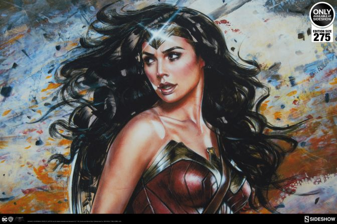 Add the Might of the Wonder Woman: Amazon Warrior Fine Art Print by Olivia to Your Collection!