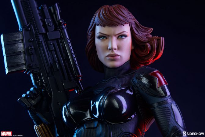 Take Aim at Ultron With the Black Widow Premium Format™ Figure