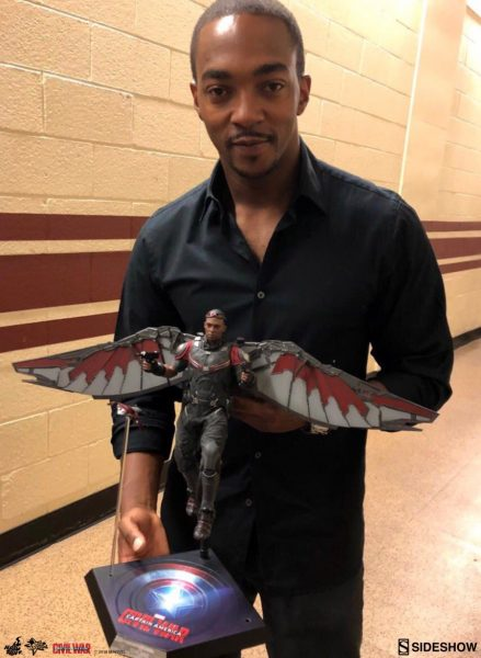 Anthony Mackie and the Hot Toys Falcon Sixth Scale Figure