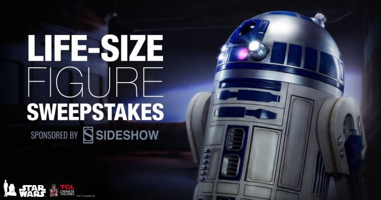 Announcing the Winner of the Life-Size Figure Sweepstakes from TCL Theaters and Sideshow!