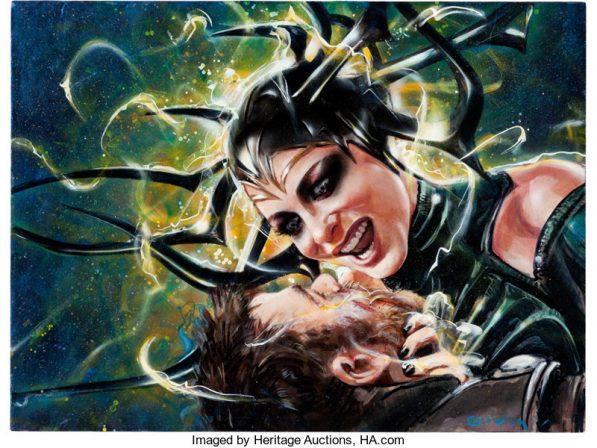 Olivia De Berardinis- Rare Original Art Goes Up For Auction