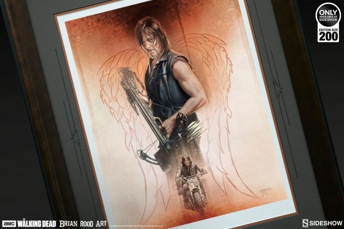 Daryl Dixon Rides Alone in The Drifter Fine Art Print by Brian Rood