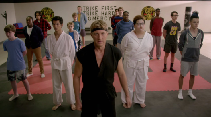 Cobra Kai Trailer on Youtube Red