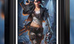 Rebel Terminator- Mythos Premium Art Print by Alex Pascenko