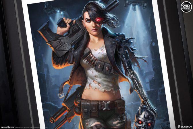 Alex Pascenko Activates the Rebel Terminator- Mythos Premium Art Print
