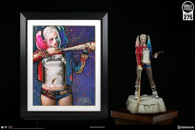 Step Up to the Plate with the Harley Quinn: Batter Up Fine Art Print by Olivia