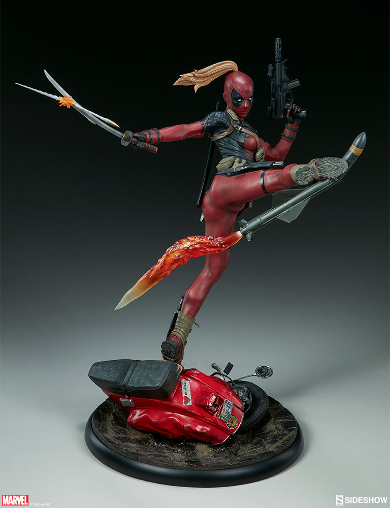 New photos of Lady Deadpool are blasting through Sideshow!   Sideshow  Collectibles