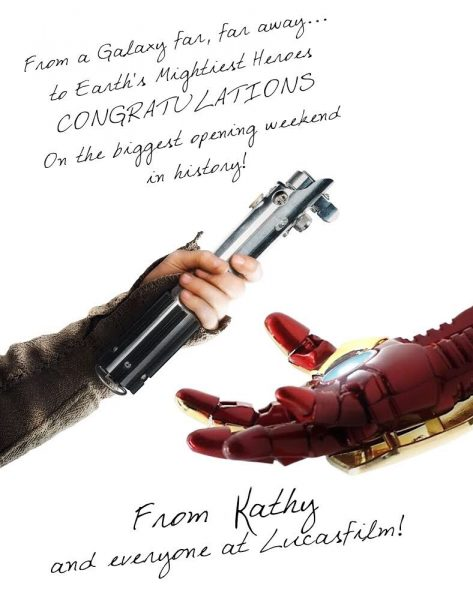 Star Wars Congratulates Marvel on Avengers Record Opening