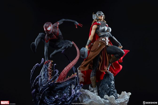 Modern Marvel Heroes- Jane Foster Thor and Miles Morales Spider-Man